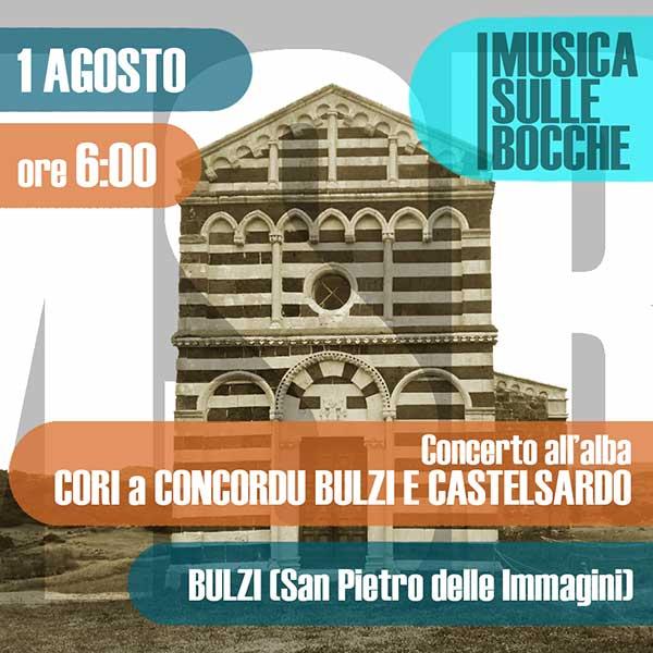 CORI A CUNCORDU DI BULZI E CASTELSARDO – Concerto all'alba